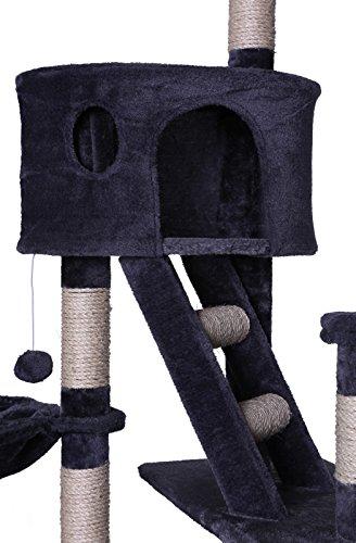 Deckenspanner Kratzbaum dibea 240-260 cm, grau, deckenhoch, Kletterbaum