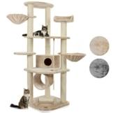 Happypet® CAT021 Kratzbaum Katzenbaum mittelhoch 1,86 m hoch Beige - 1