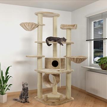 Happypet® CAT021 Kratzbaum Katzenbaum mittelhoch 1,86 m hoch Beige - 2