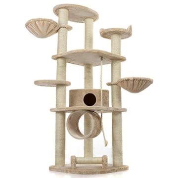 Happypet® CAT021 Kratzbaum Katzenbaum mittelhoch 1,86 m hoch Beige - 4