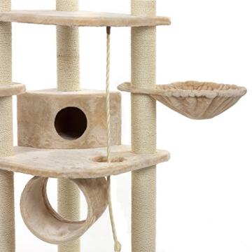 Happypet® CAT021 Kratzbaum Katzenbaum mittelhoch 1,86 m hoch Beige - 5