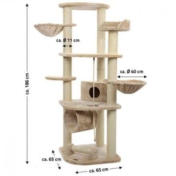 Happypet® CAT021 Kratzbaum Katzenbaum mittelhoch 1,86 m hoch Beige - 7