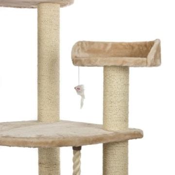 Happypet® CAT021 Kratzbaum Katzenbaum mittelhoch 1,86 m hoch Beige - 8
