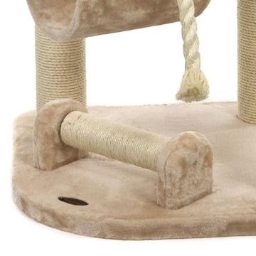 Happypet® CAT021 Kratzbaum Katzenbaum mittelhoch 1,86 m hoch Beige - 9
