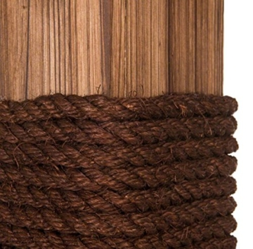 Kippsicherer und robuster Design Kratzbaum mit flambiertem Holz und 3 Etagen - Jedes Stück ein UNIKAT! - 6