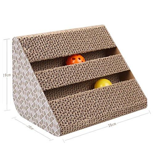 ubest kratzbrett f r katzen mit katzenminze 28 19 19cm. Black Bedroom Furniture Sets. Home Design Ideas