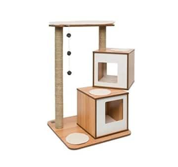 design kratzbaum v double von vesper holz seegras 105 cm hoch. Black Bedroom Furniture Sets. Home Design Ideas