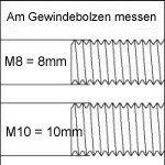 Ersatzstamm 90 cm Durchmesser 9 cm Gewinde M8 -