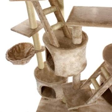 happypet-cat013-kratzbaum-katzenbaum-deckenhoch-230-bis-260-hoch-beige