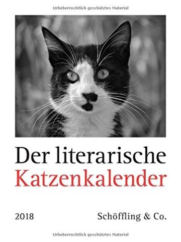 Der literarische Katzenkalender 2018, Kalender Katzen