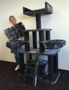 Black Panther XXL Kratzbaum, für große und schwere Katzen, RHRQuality