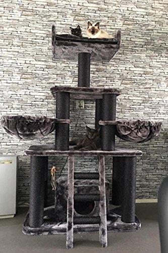 Black Panther XXL Kratzbaum, für große und schwere Katzen, RHRQuality -3
