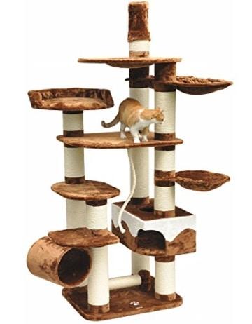 katzen kratzbaum xxl taurus gro e und schwere katze deckenhoch. Black Bedroom Furniture Sets. Home Design Ideas