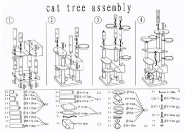 Katzen-Kratzbaum XXL Taurus. große und schwere Katze, deckenhoch 6