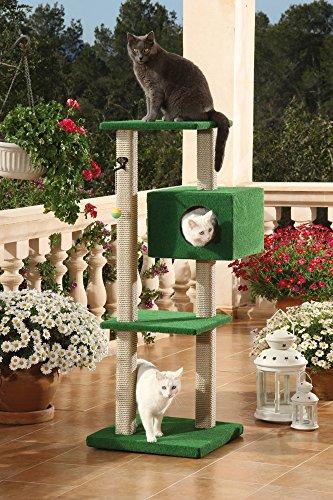 Outdoor Kratzbaum Portofino für Balkon und Terrasse, grün/beige -