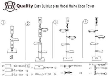 XXL Deckenspanner Kratzbaum Maine Coon Tower RHR beige 7