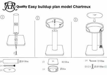 Kratzbaum XXL Chartreux 20cmØ RHRQuality für grosse und schwere Katzen 3