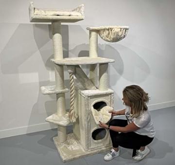RHRQuality Kratzbaum Cat Penthouse - stabil und hochwertig - für grosse Katzen