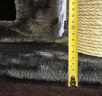 XXL Kratzbaum Maine Coon Fantasy Plus RHRQuality-grau- für mehrere schwere Katzen-183 cm hoch